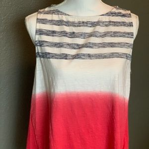 Red-white-blue summer top